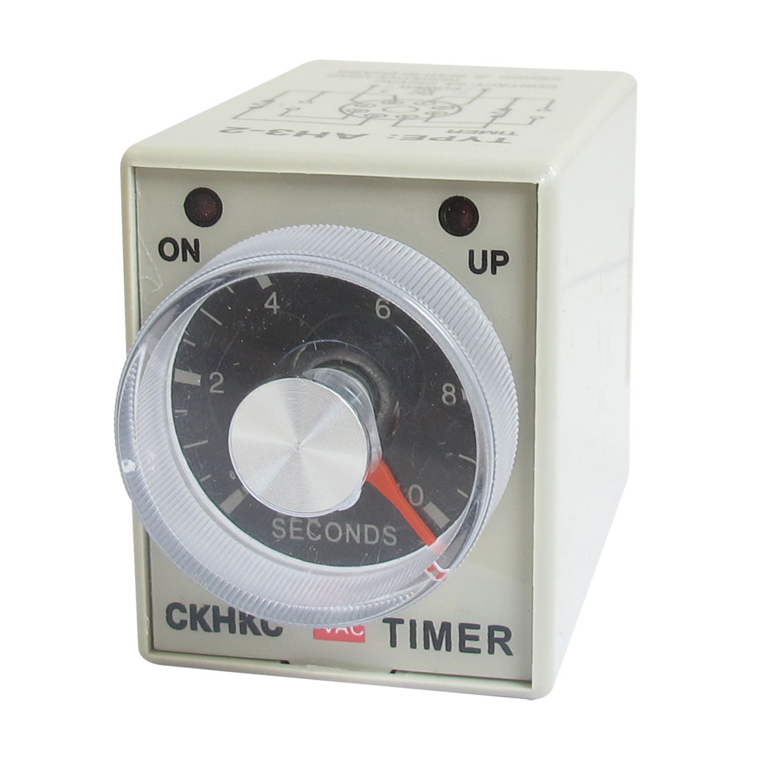 AC 220V 0-10 Sec 10 Seconds Delay Timer Timing Relay AH3-2 w 8 Pin