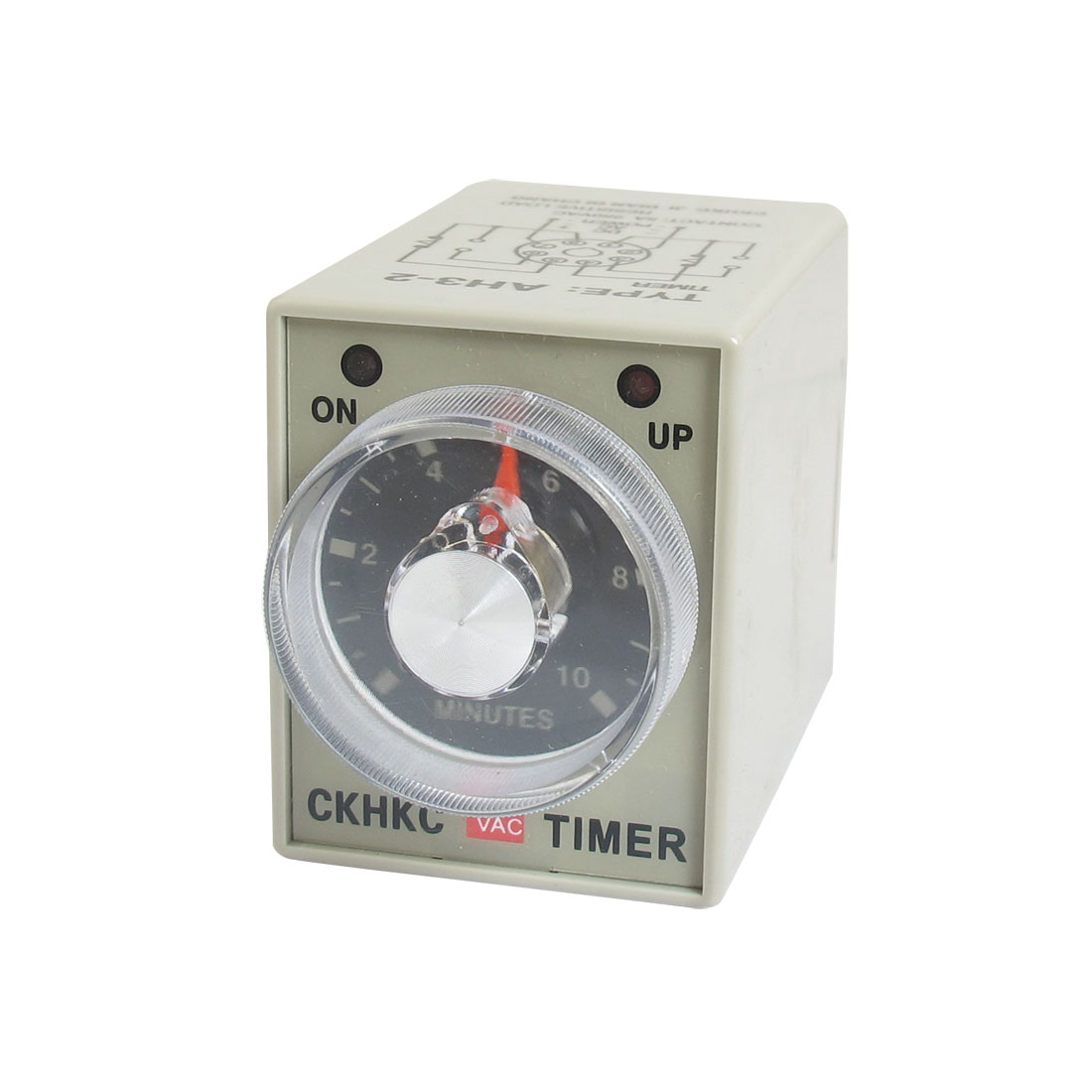 AC 220V 0-10 Minute 10m Timer Power On Delay Time Relay 8 Pin AH3-2