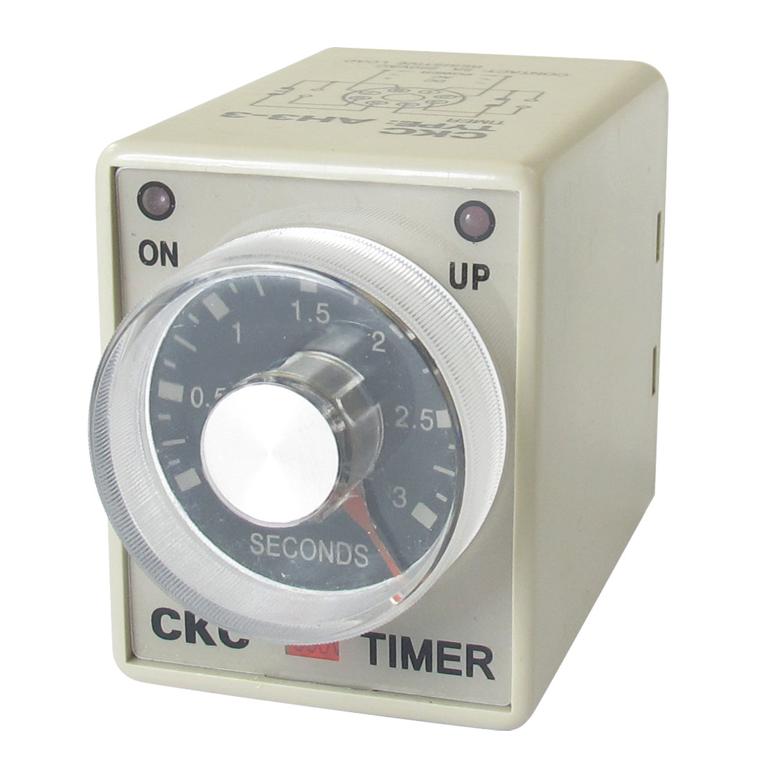AC 380V 0-3 Seconds 3s Plastic Housing Delay Timer Time Relay 8 Pin AH3-3
