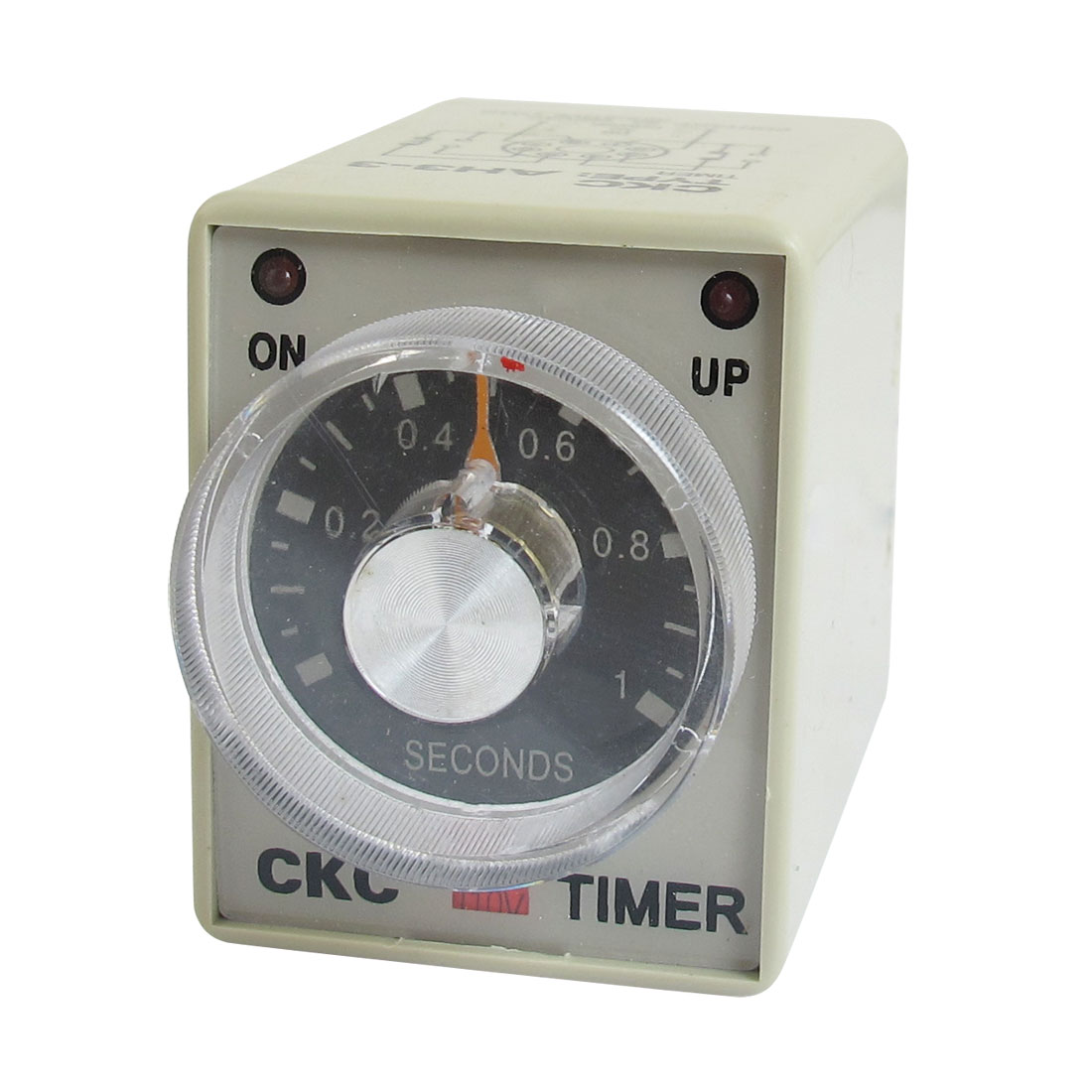 AC 110V 0-1 Seconds 1s Plastic Housing Delay Timer Time Relay 8 Pin AH3-3
