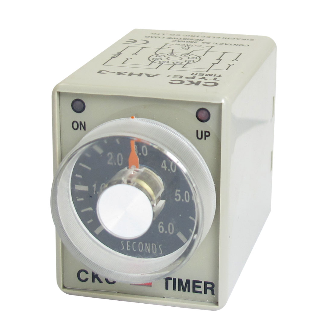 AC 380V 0-6 Seconds 6s Plastic Housing Delay Timer Time Relay 8 Pin AH3-3