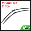 "2 Pcs Frameless Windshield Flat Wiper Blade Black 28"" 26"" for Audi Q7"