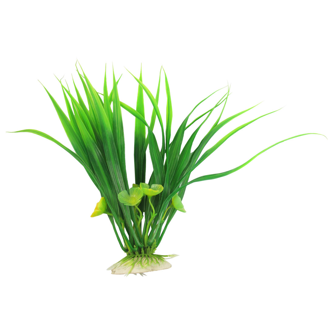 "9.4"" High Green Yellow Leaves Decor Plastic Underwater Plants Grass for Aquarium"