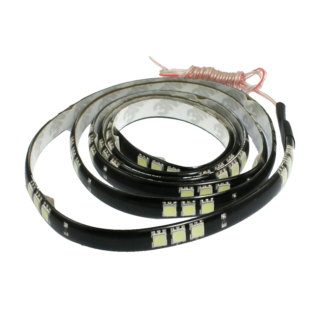 Car Auto DC 12V White 5050 SMD 60-LED Strip Light Lamp 120cm