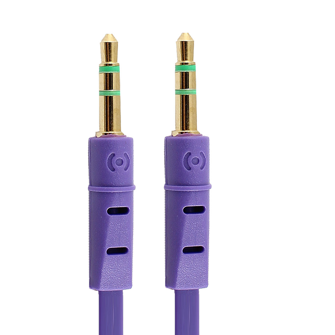 3.3Ft 3.5mm Male to Male M/M Jack Stereo Audio Cable Cord Purple for MP4 MP3