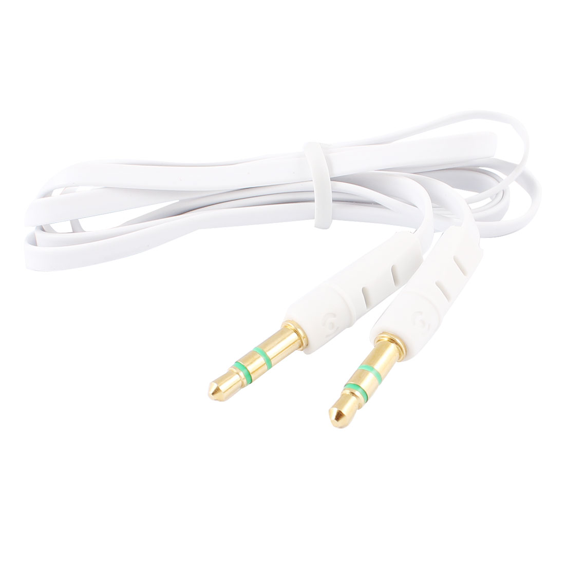 3.3Ft 3.5mm Male to Male M/M Jack Stereo Audio Cable Cord White for MP4 MP3