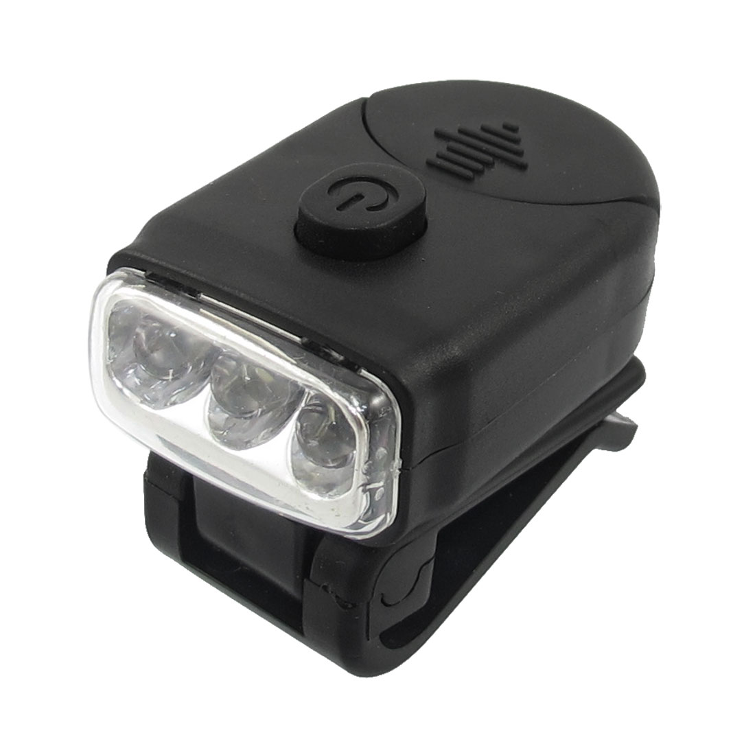 Black Battery Powered Three LED Cap Light for Mountaineer