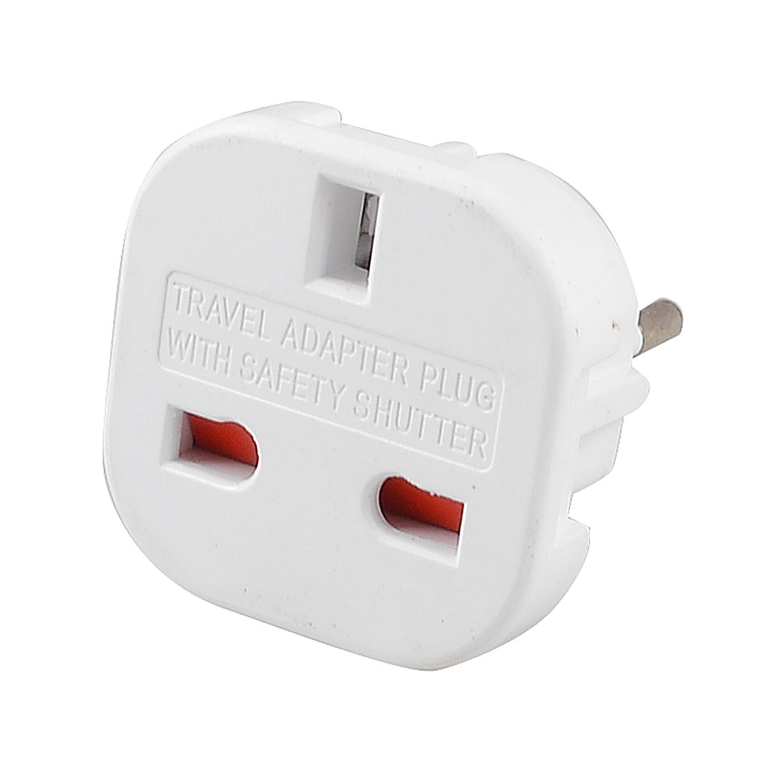 EU 2 Pole Plug to 3 Pole UK Socket Travel Adapter Converter White AC 240V 10A/16A