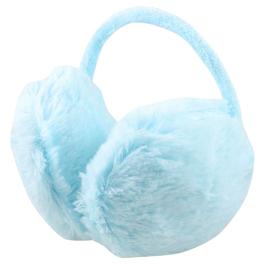 Women Woman Winter Fluffy Earlap Plush Ear Pad Back Earmuffs Baby Blue