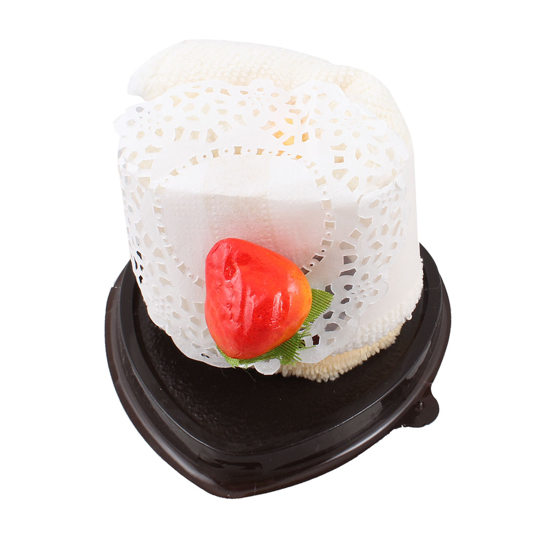 Wedding Decoration Off White Orange Heart Cake Style Towel Washcloth
