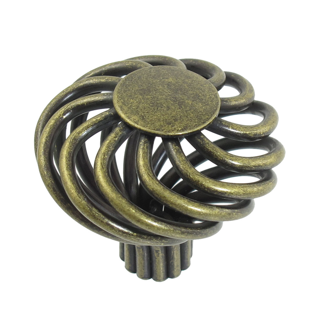 45mm Hollowed Flower Vintage Bronze Tone Drawer Dresser Pull Knob Handle