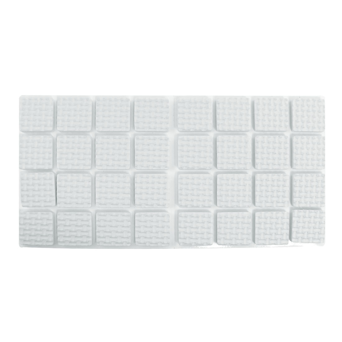 32 Pcs White Synthetic Fiber Adhesive Square Table Chair Leg Pad
