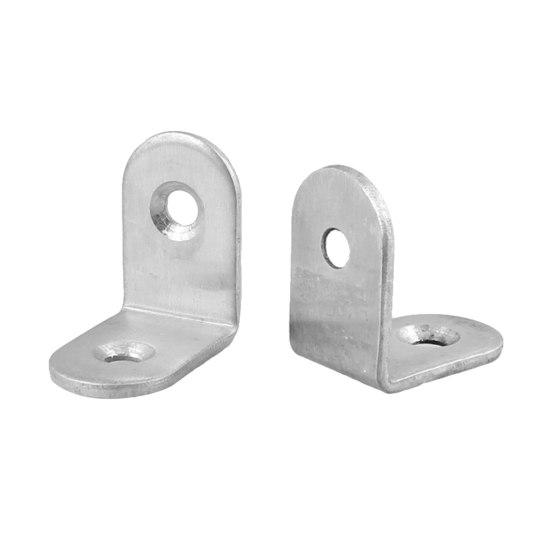 2 Pcs 4mm Mounted Hole Metal 90 Degree Glass Shelf Holder Support