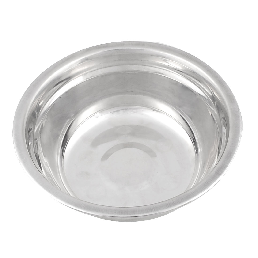 Kitchen Silver Tone 14cm Diameter Dinner Soup Rice Bowl