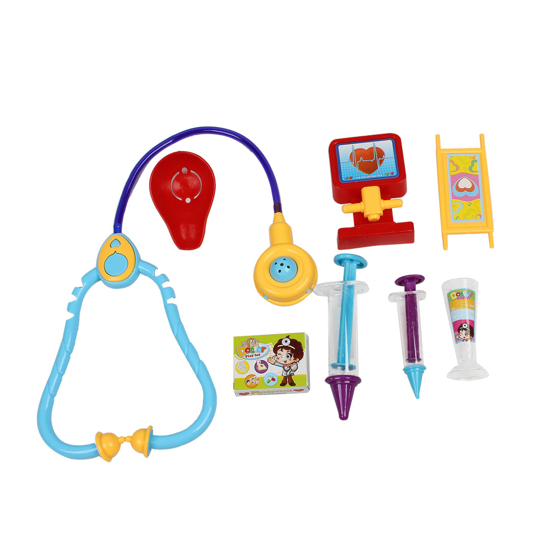Colorful Plastic Hospital Instrument Educational Toy Plaything Set for Kids