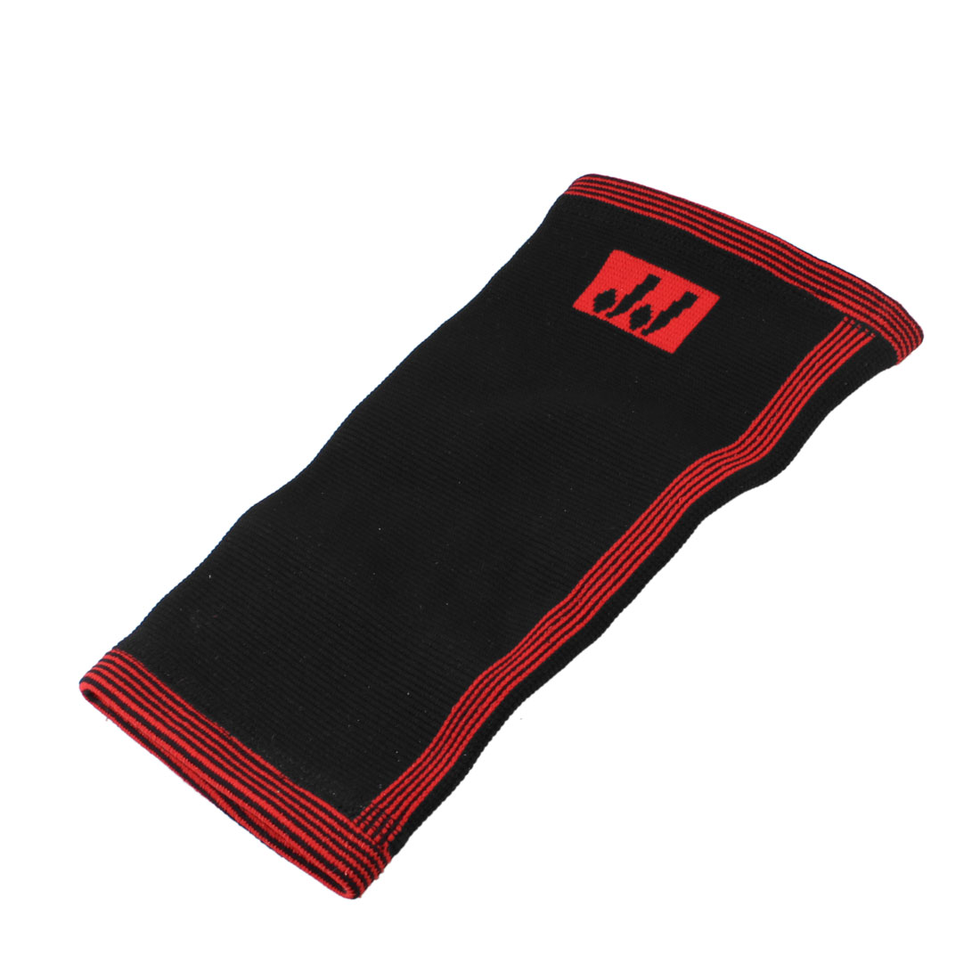 Football Sports Red Black Elastic Pullover Sleeve Protector Calf Support