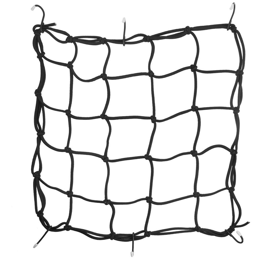 Black 6 Hooks Design Motorcycle Bicycle Luggage Package Cargo Net