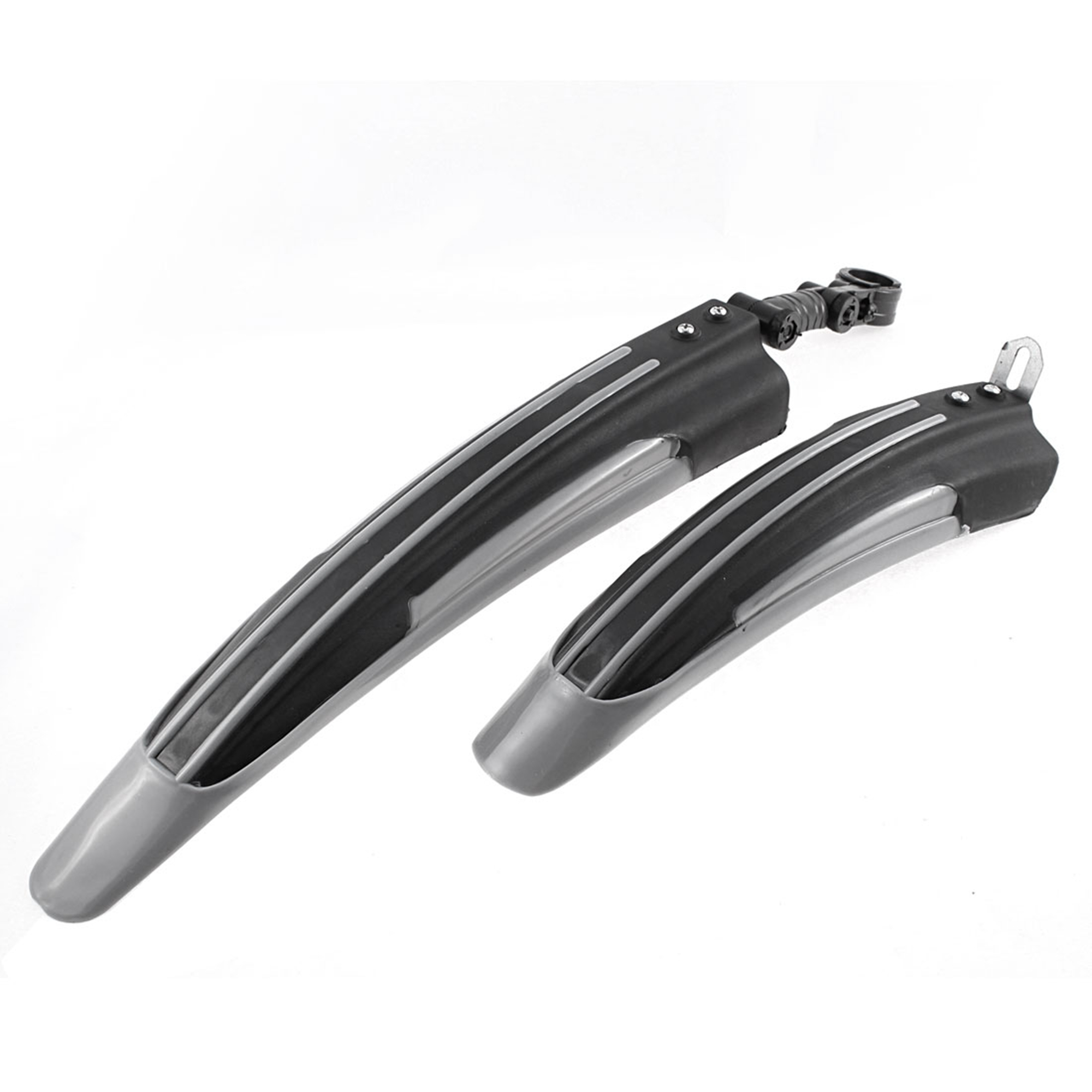 Bicycle Bike Mountain Road Front Rear Fender Mudguard Guard Black Gray