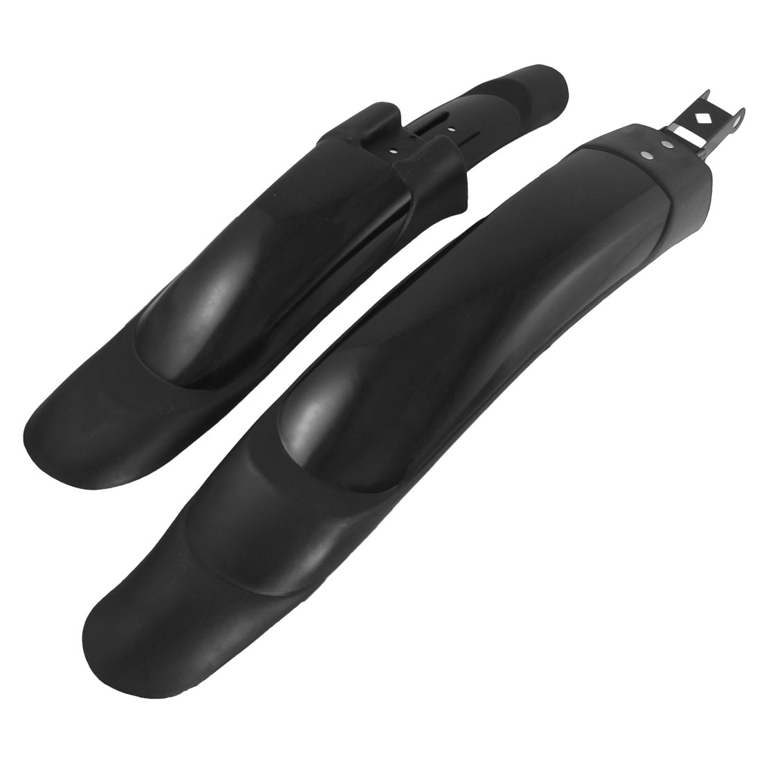 Metal Plastic Front Rear Mudguard Fender Black for Mountain Bike Cycling