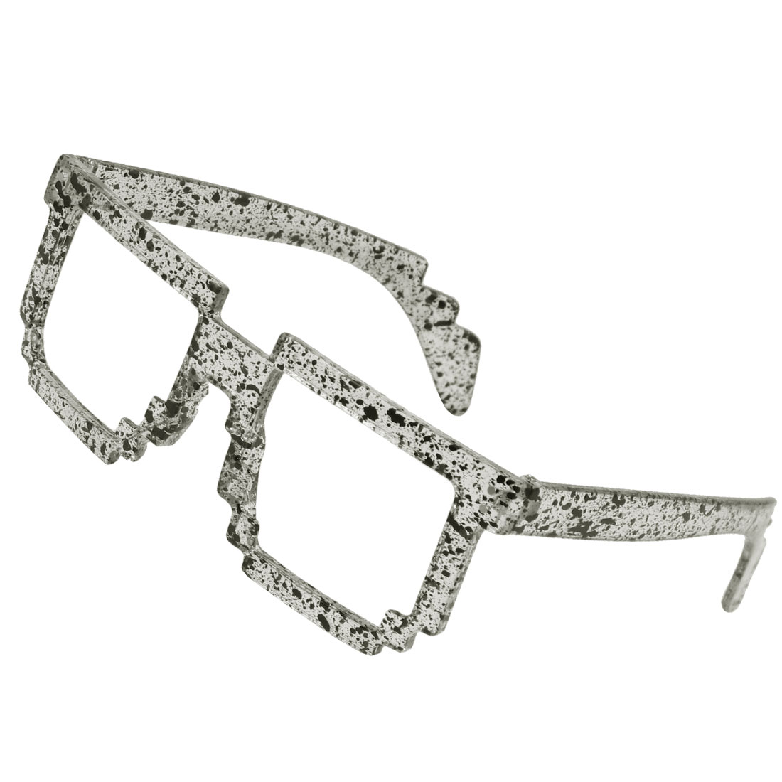 Ladies Decor Toothed Accent Dots Printed Rimed Glasses Eyeglasses Frame