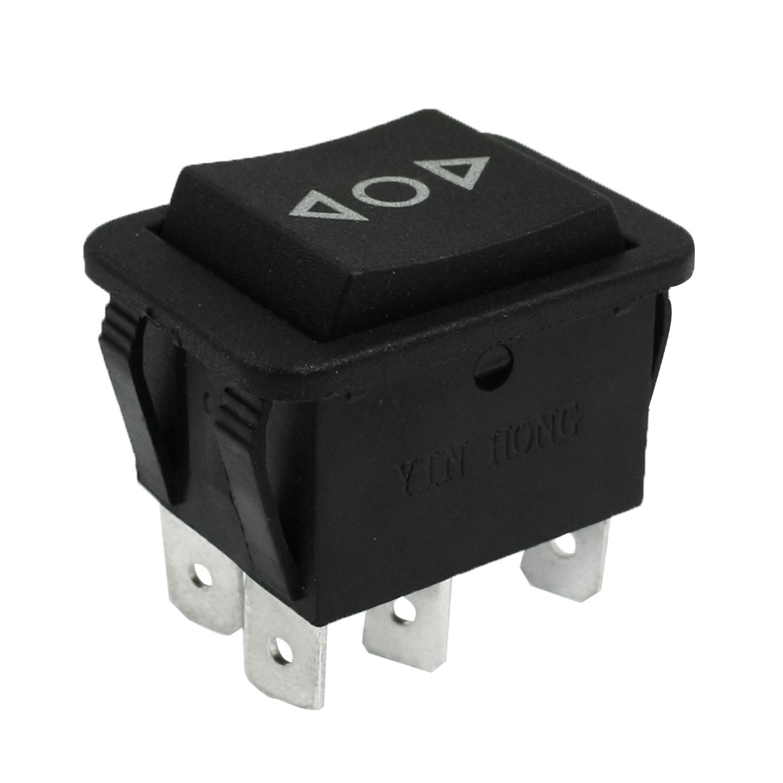AC 250V/10A 125V/15A 6 Pins On-Off-On Momentary Rocker Switch