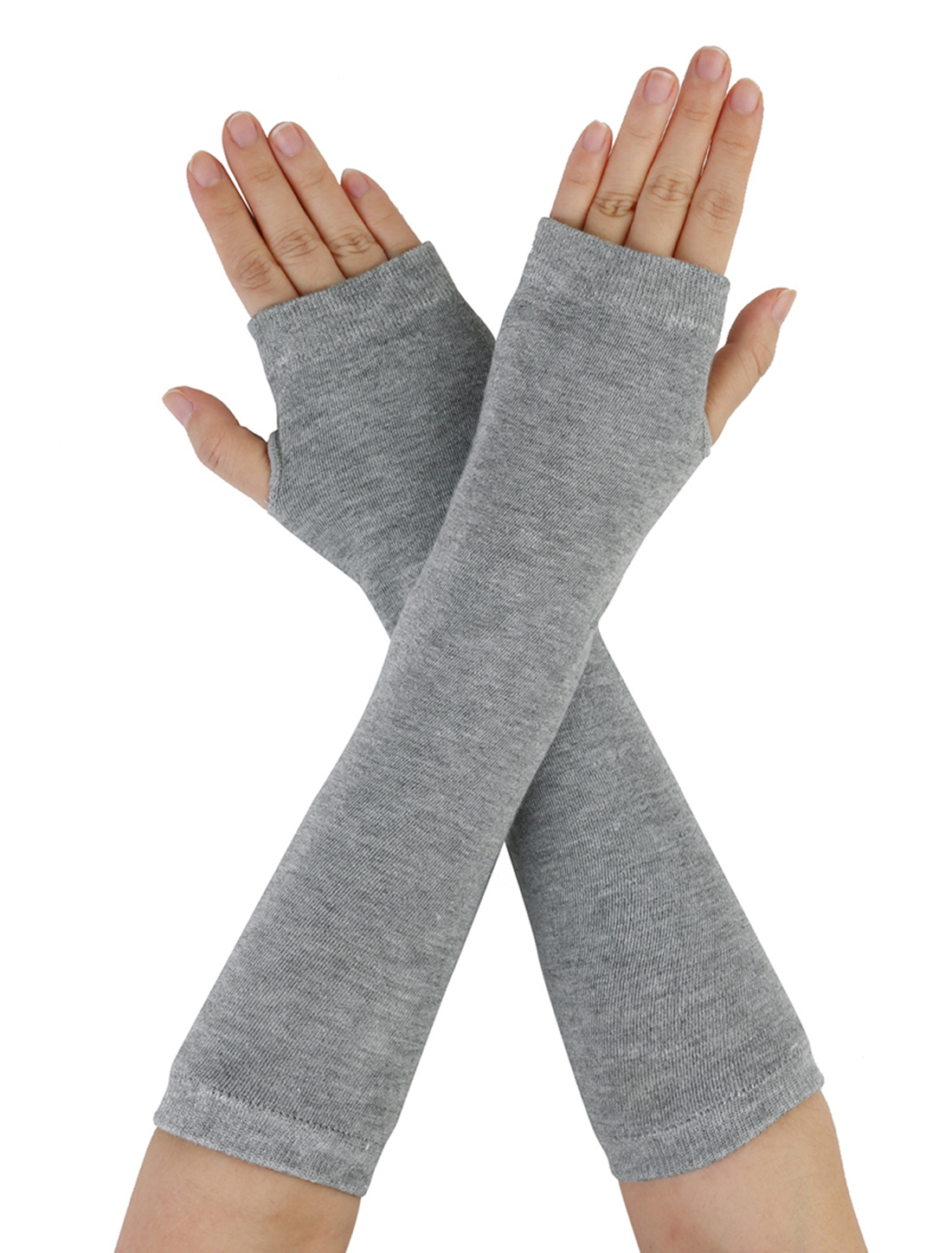 Korea New Fashion Light Gray Fingerless Arm Cover For Unisex