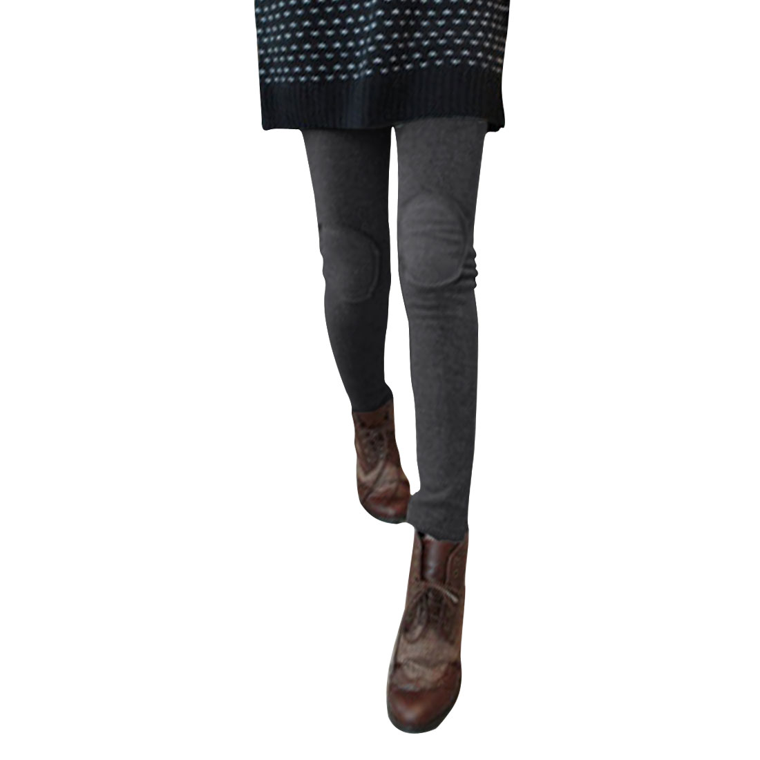 Ladies Dark Gray Mid Rise Fashional Casual Winter Leggings XS