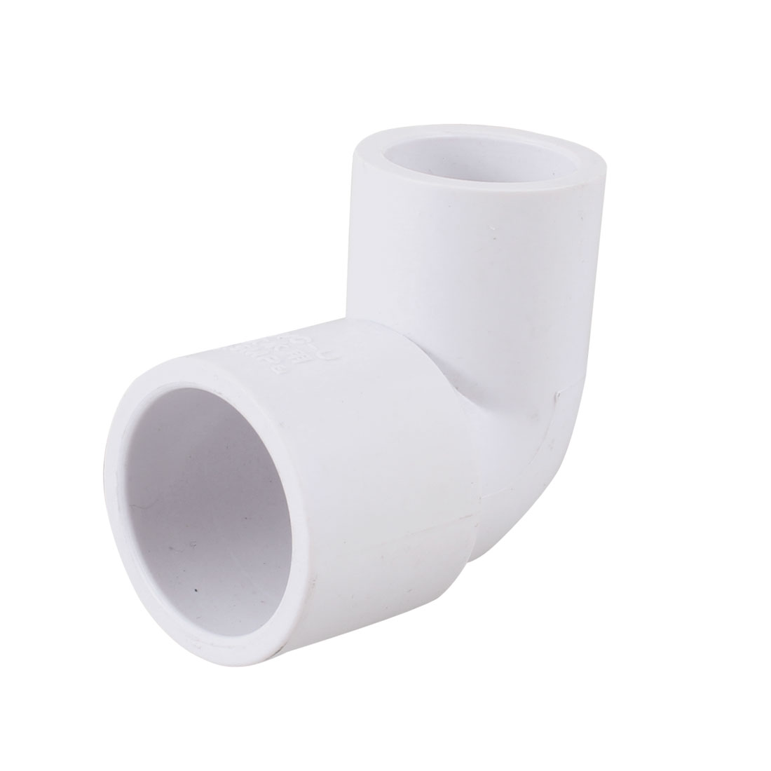 White PVC-U 20mm to 25mm Water Pipe Right Angle Elbow Connector Adapter