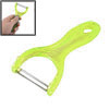 Clear Green Plastic Grip Sharp Cutting Part Potatoes Cucumbers Fruits Vegetables Peeler