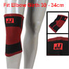 Black Red Striped Stretchy Pullover Knee Support Protector Wrapper