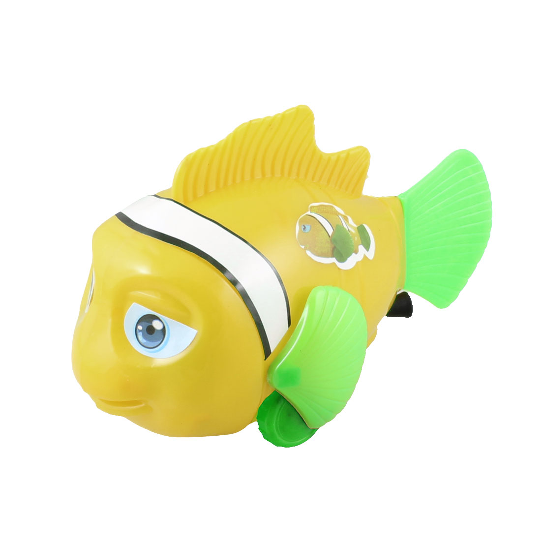 Child Kid Swaying Fishtail Pull String Walking Fish Toy Yellow Green