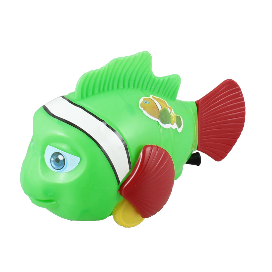 Child Kid Swaying Fishtail Pull String Walking Fish Toy Green Red