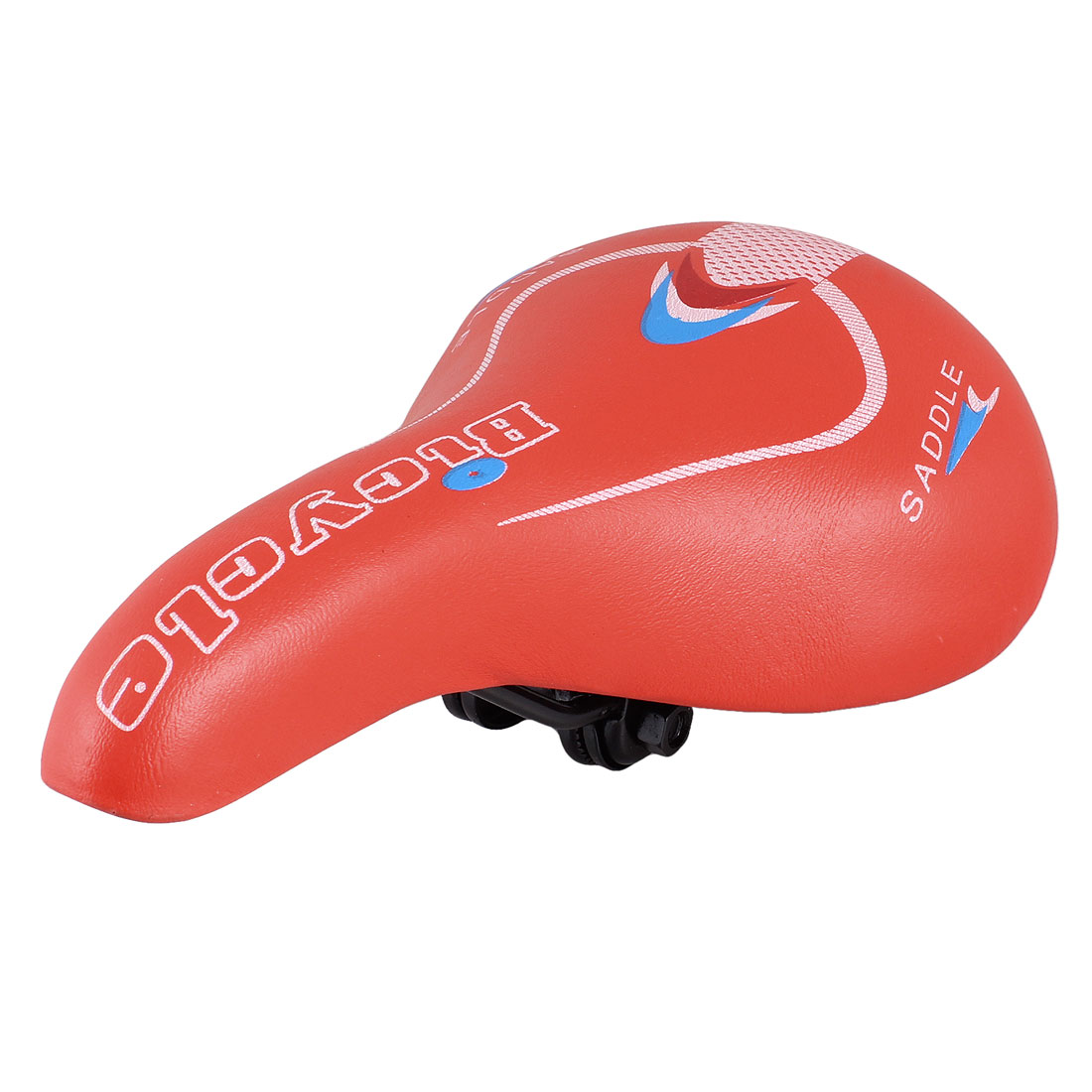 Red Faux Leather Coated Soft Foam Bike Seat Saddle