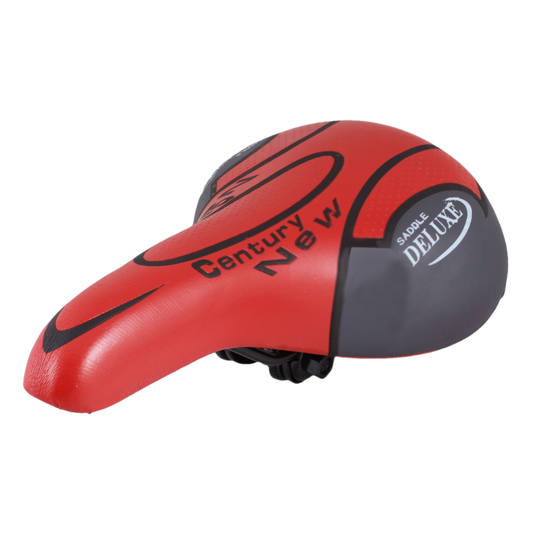 Red Black Faux Leather Cover Soft Foam Bike Seat Saddle