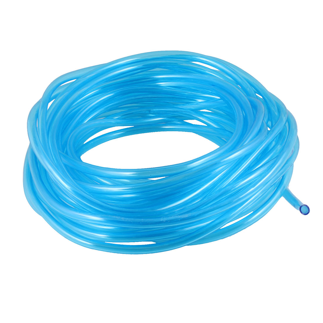 Aquarium Clear Blue Soft Polyurethane PU Oxygen Pipe 15m Length