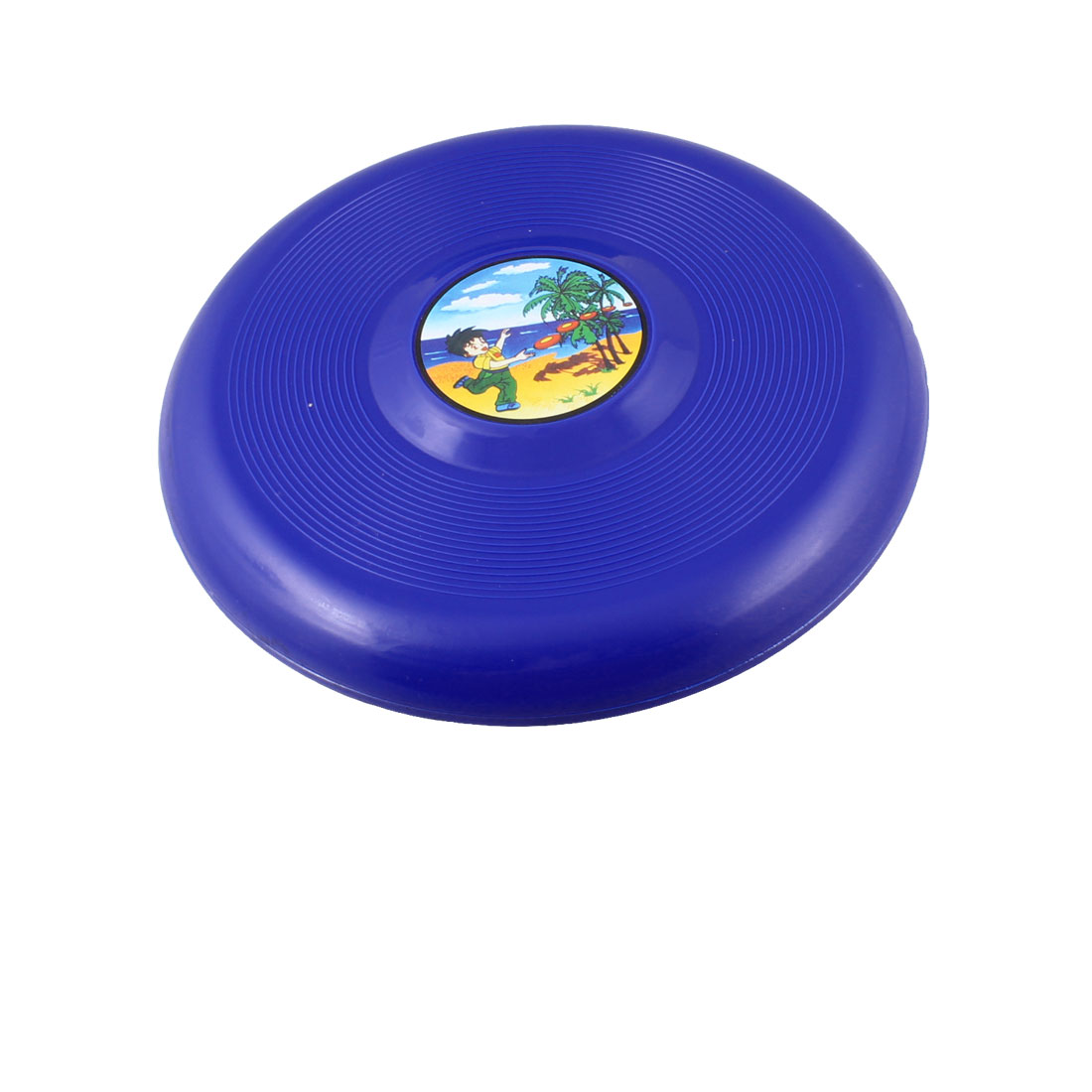 "Child Blue Plastic 7.3"" Diameter Flying Round Disc Frisbee Toy"