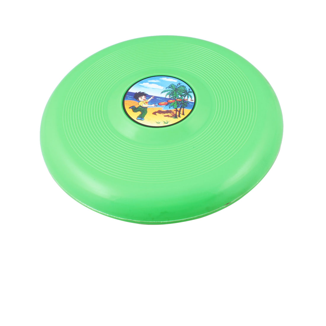 "Child Green Plastic 7.3"" Diameter Flying Round Disc Frisbee Toy"