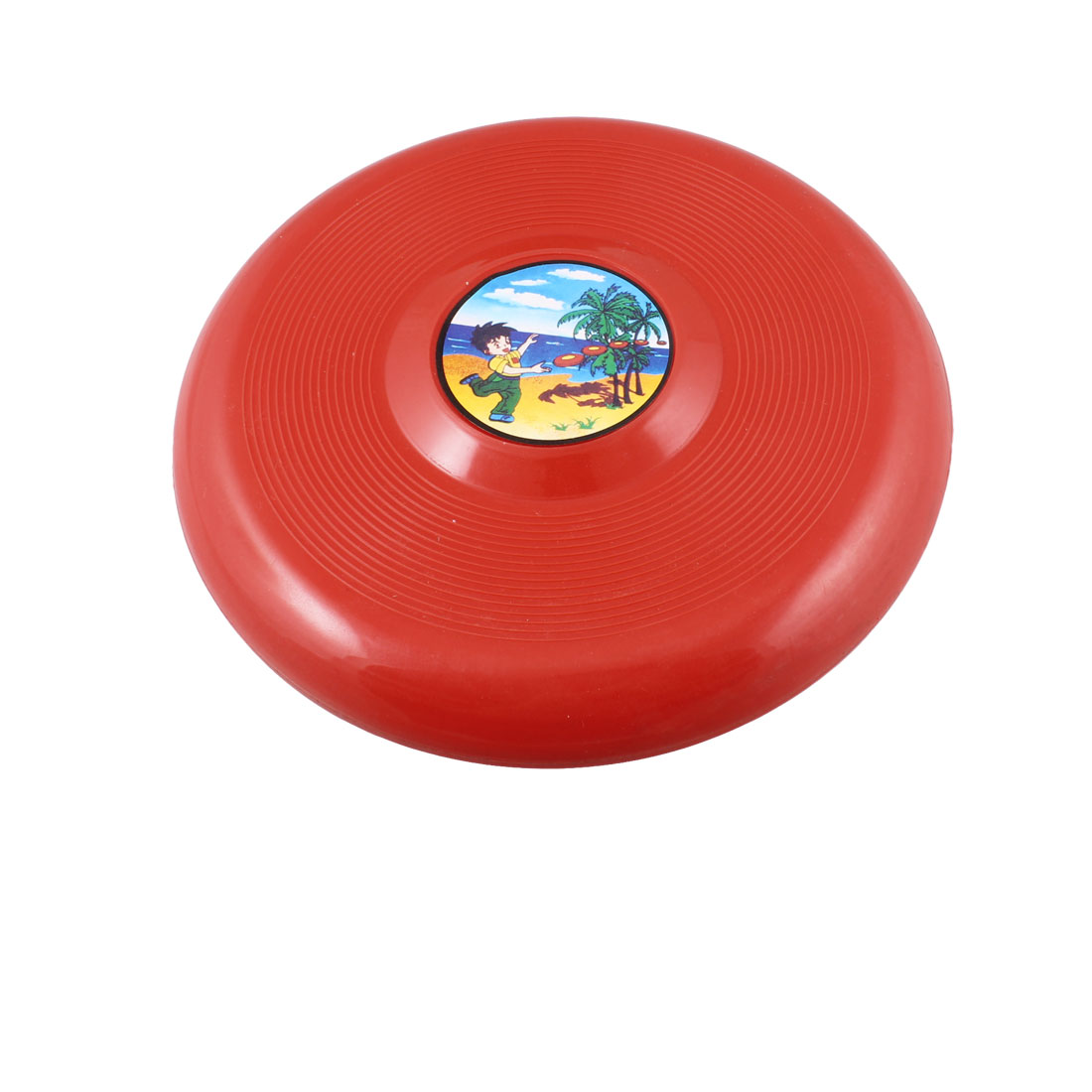 "Child Red Plastic 7.3"" Diameter Flying Round Disc Frisbee Toy"