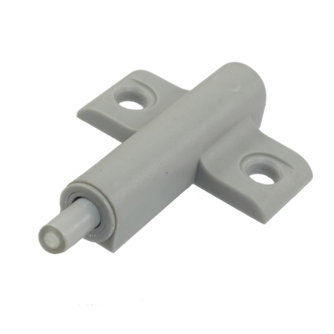 Gray Plastic Single Touch Press Glass Door Catch Latch