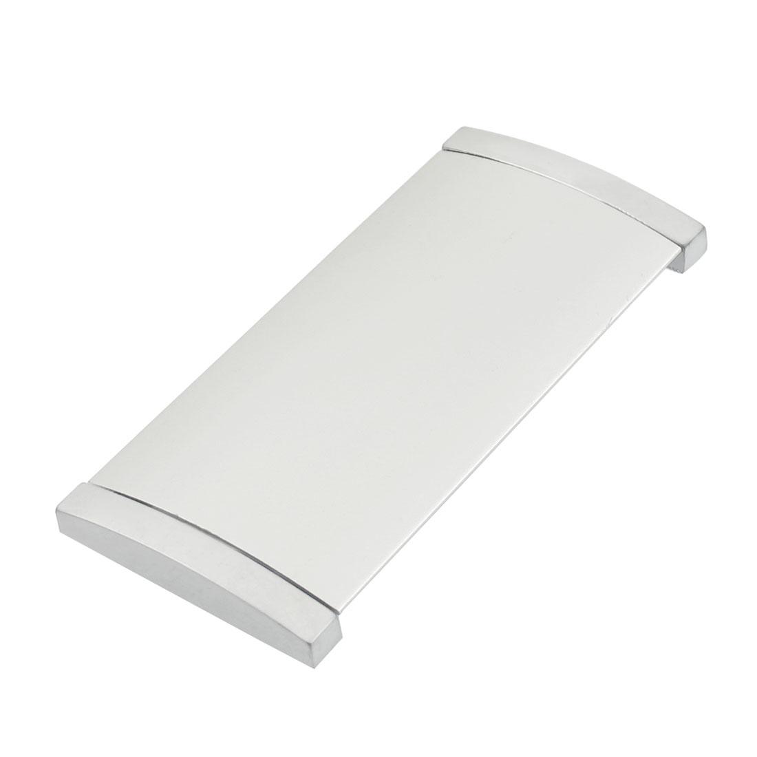 """10cm 4"""" Panel Metal Component Cabinet Door Pull Handle Silver Tone"""