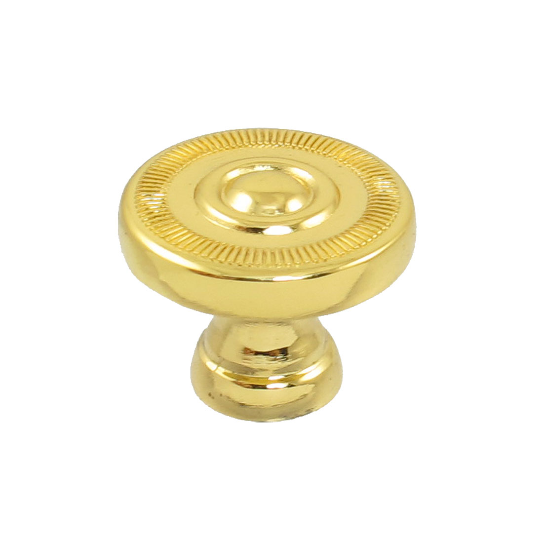"Screw Fix Cabinet Drawer Gold Tone 2.5cm 1"" Round Pull Handle Knob"