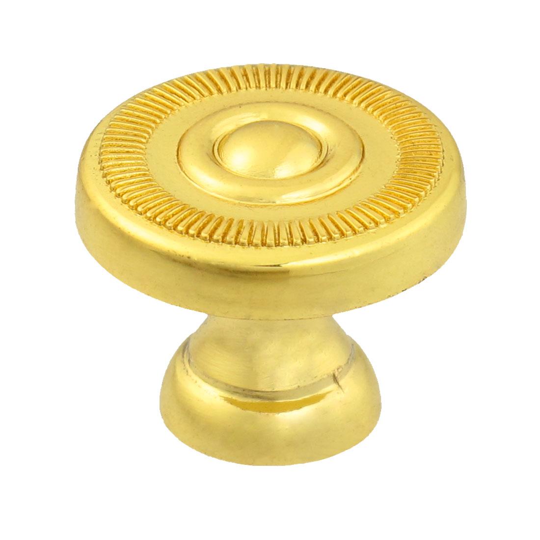 "Cabinet Drawer Gold Tone 2cm 0.8"" Diameter Metal Round Pull Knob"