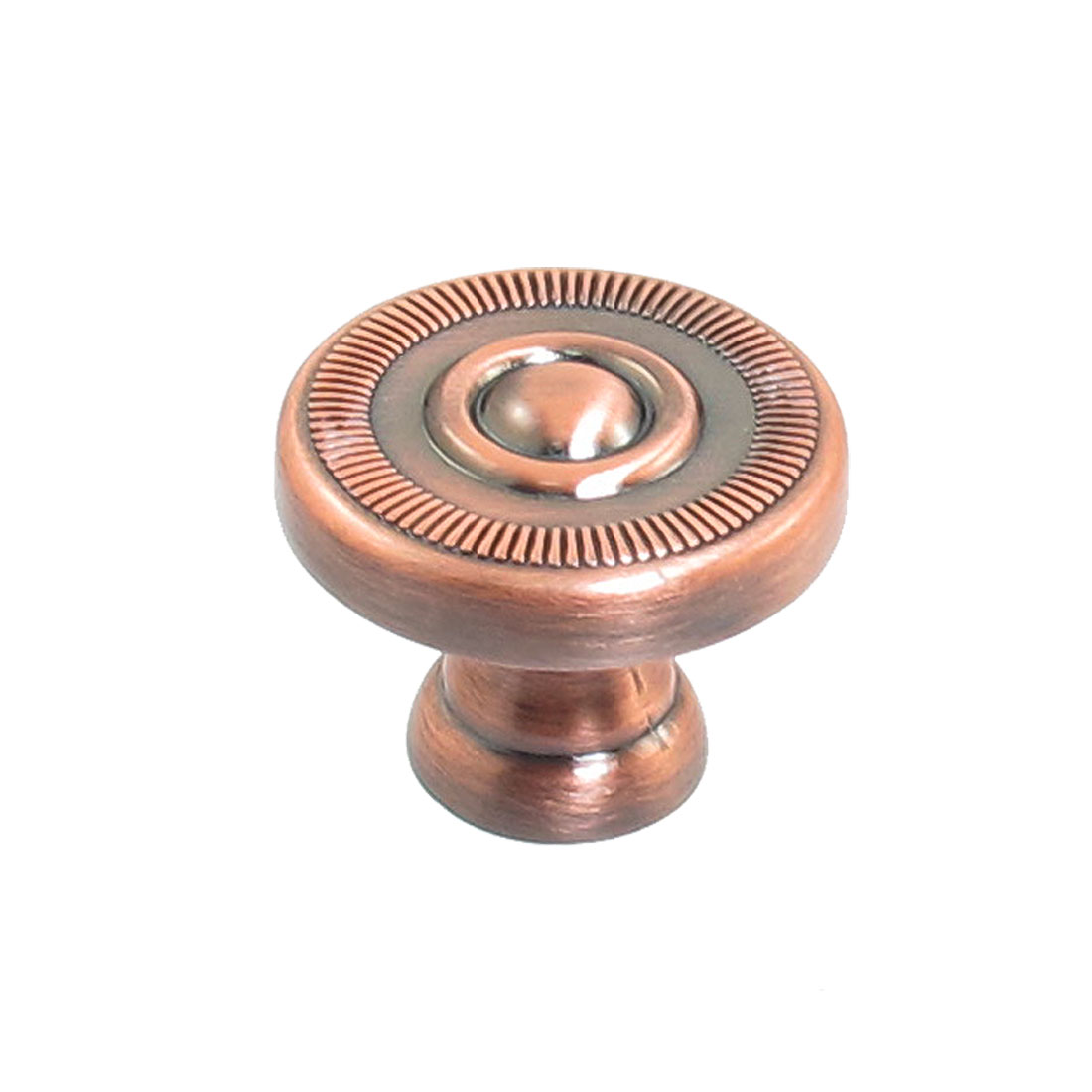 "Furniture Cabinet Copper Tone 2.5cm 1"" Dia Metal Round Pull Knob"
