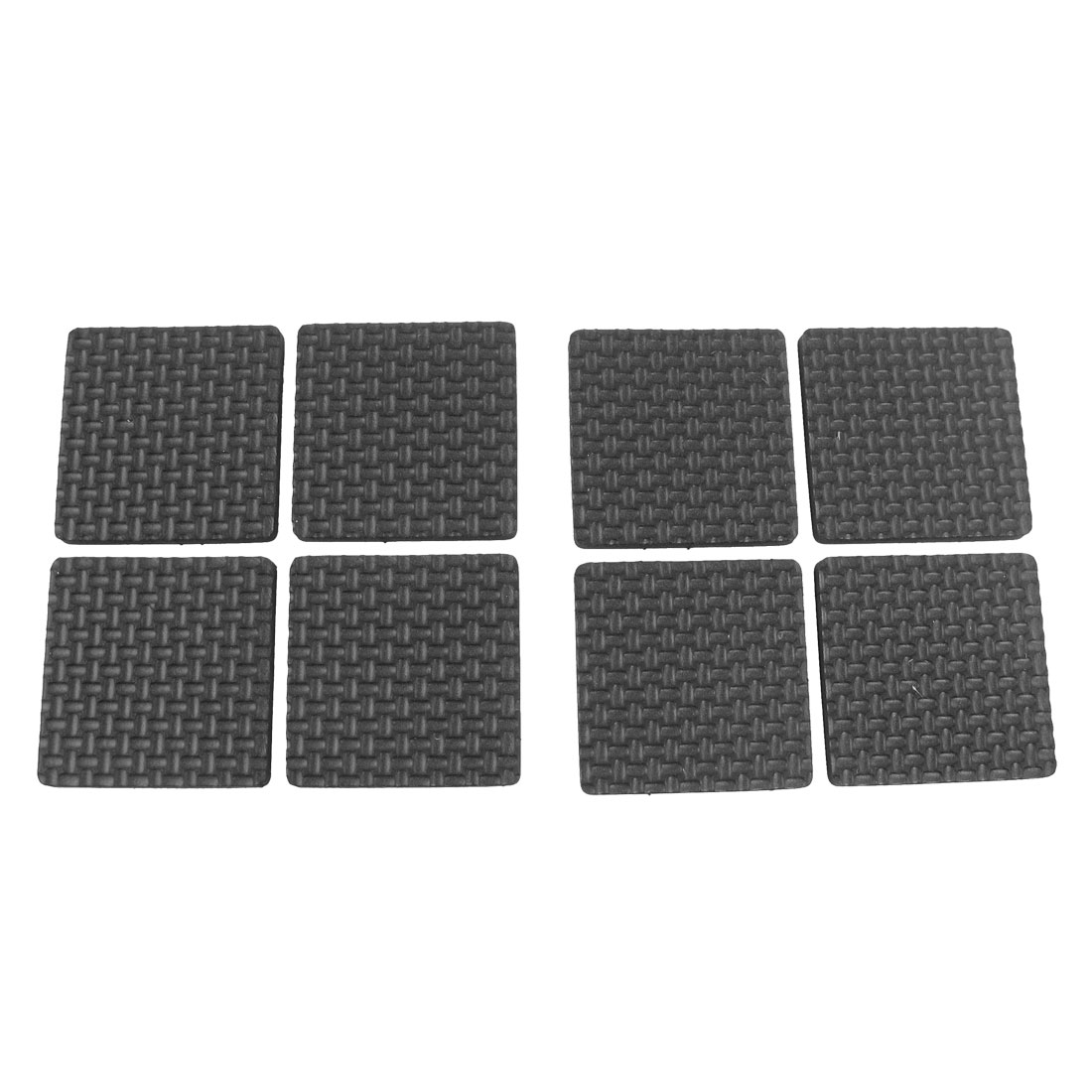 8 Pcs Self Adhesive Black Foam Table Chair Leg Pad Protector 38mm x 38mm