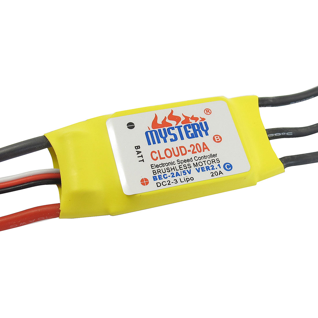 20A Programmable Brushless ESC 2-3Li-Po for RC Glider Aircraft