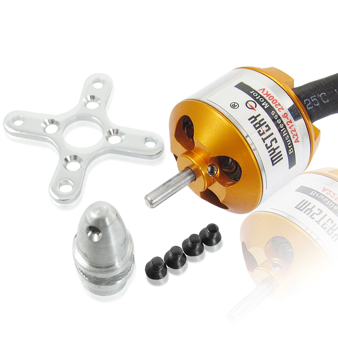 A2212-6 2200KV Outrunner Brushless Motor for RC Glider Helicopter Aircraft
