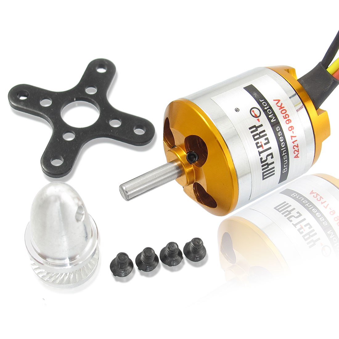 A2217-9 950KV Outrunner Brushless Motor for RC Glider Helicopter Aircraft