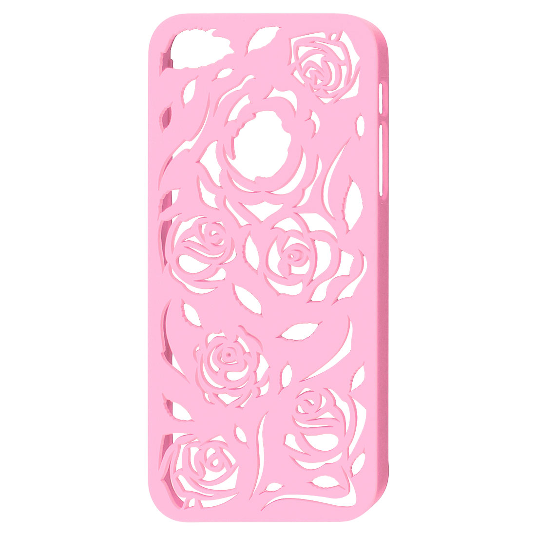 Light Pink Hollow Out Rose Plastic Back Case Cover for Apple iPhone 5 5G