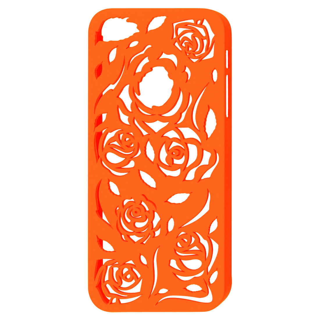 Hollow Out Rose Design Orange Red Back Case Cover for iPhone 5 5G 5th