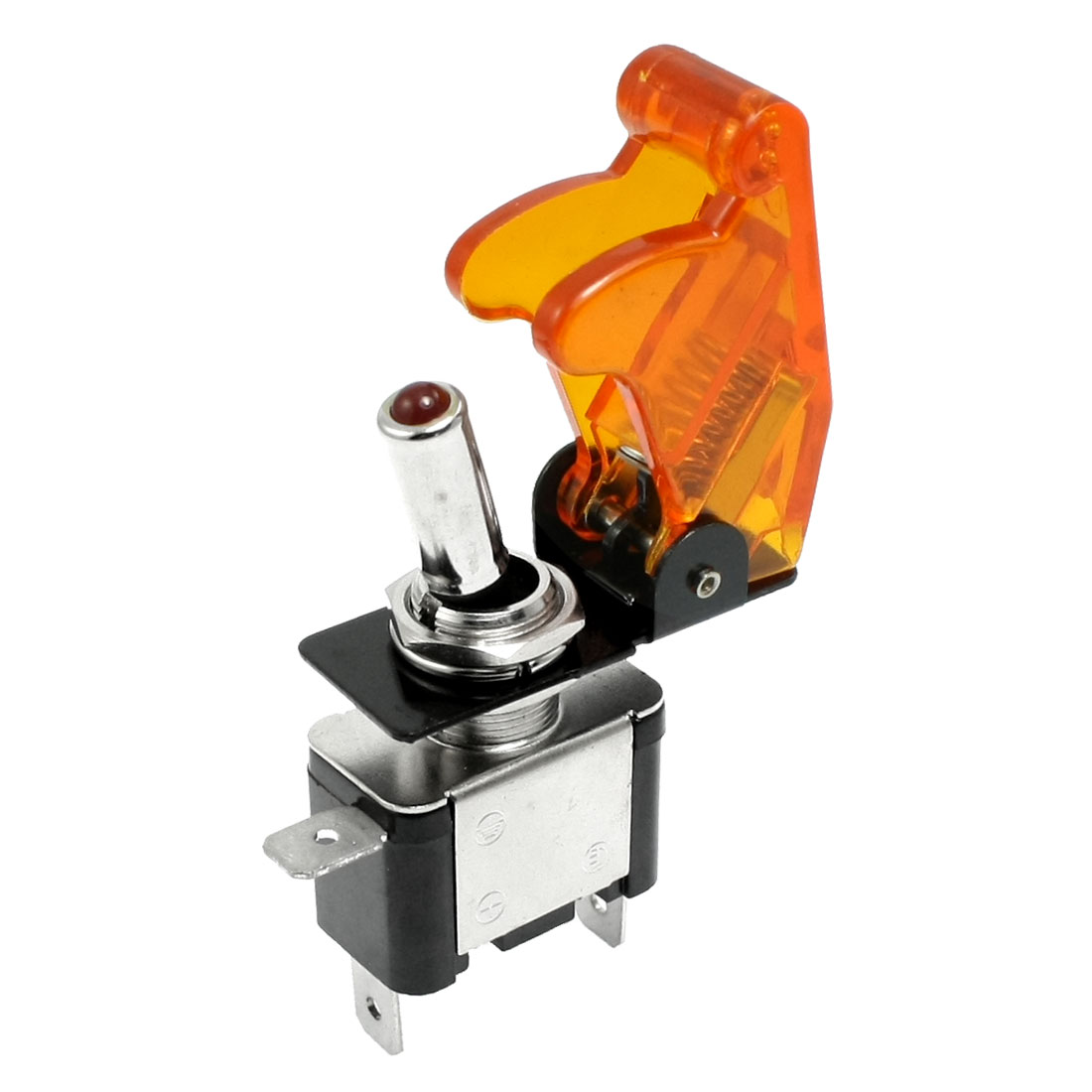 DC 12V 20A On Off Racing Car Illuminated Toggle Switch + Orange Cover